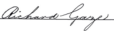 Richard Gaze signature