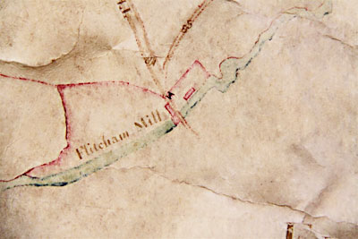 Hillington Estate map 1756