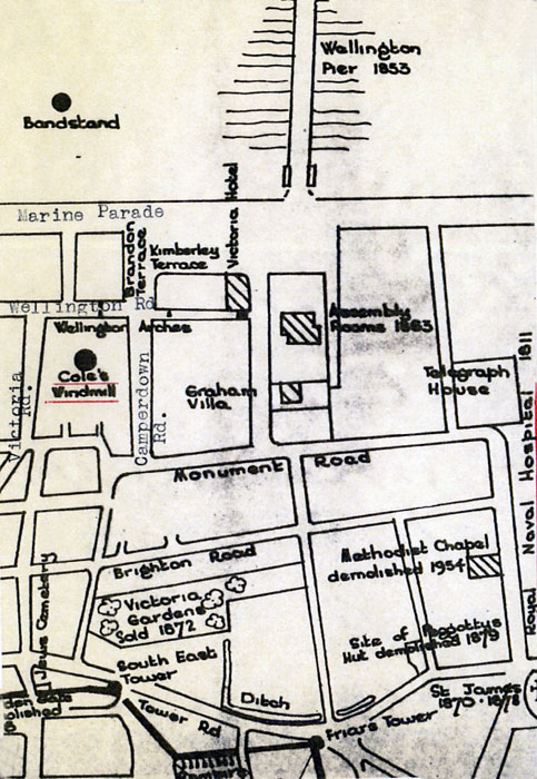 Street map drawn by Harry Apling