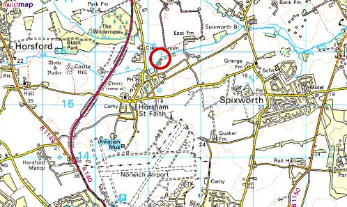 Norfolk mills horsham st faith watermill os map 2005 publicscrutiny Images