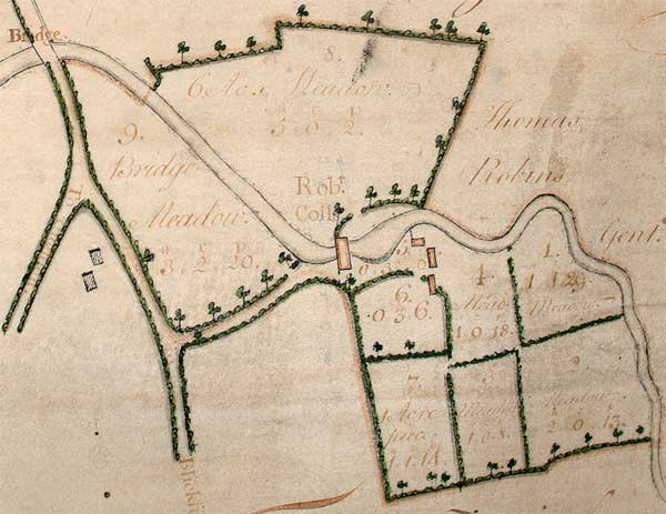 Estate map 1722