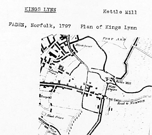 Faden's plan of Kings Lynn 1797