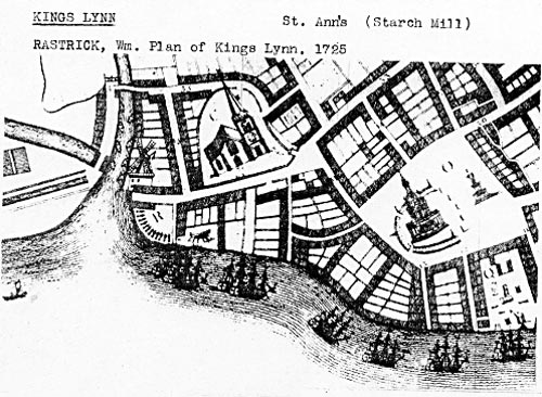 William Rastrick's Plan of Kings Lynn 1725