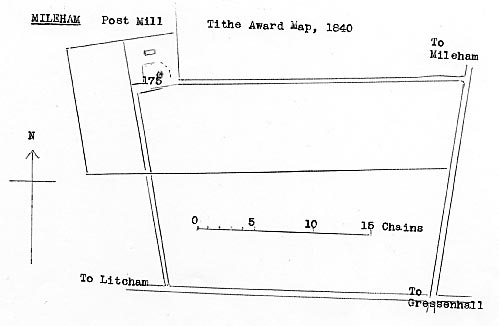 Tithe Award map 1840 as redrawn by Harry Apling