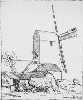 Drawing by J. Percival Chaplin c.1920