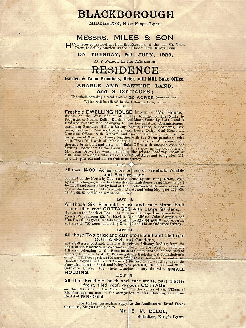 Sale document - July 1929