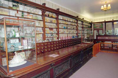 Victorian pharmacy in the Broads Museum 6th June 2004