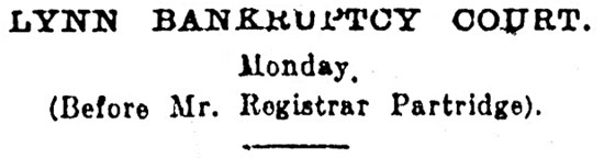 Lynn Advertiser - 11th November 1910