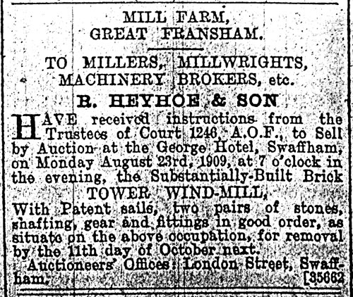 Lynn Advertiser - 13th August 1909