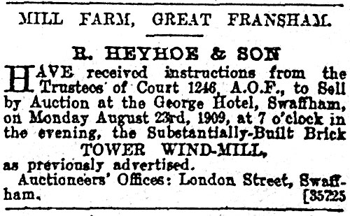 Lynn Advertiser - 20th August 1909