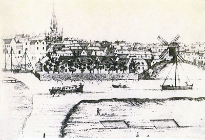 J. Corbridge's West Prospect of Yarmouth - c.1740
