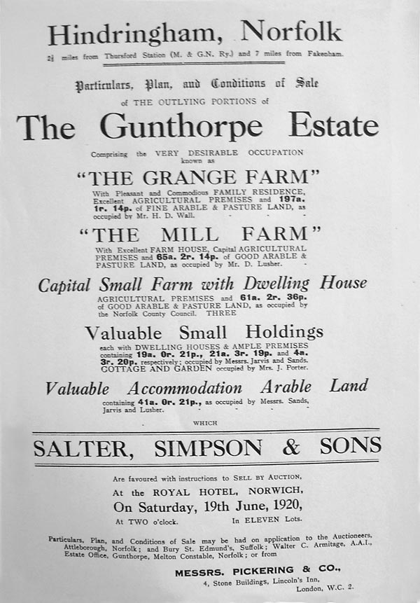 Part of 1920 sale brochure