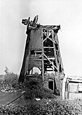 The mill lying derelict in 1967