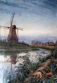 Painting by A. Challis c.1900