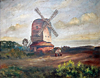 Oil painting by Walter E. Plumstead c.1925