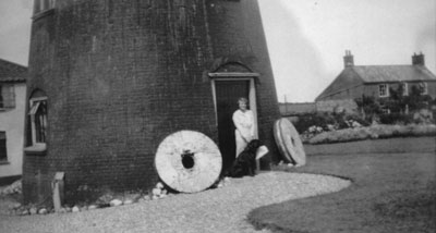 Mrs Bell and Rock outside the mill 18th June 1933