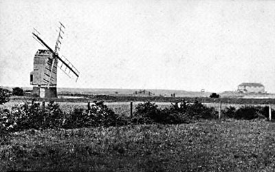 Mill with harbour beyond c.1930