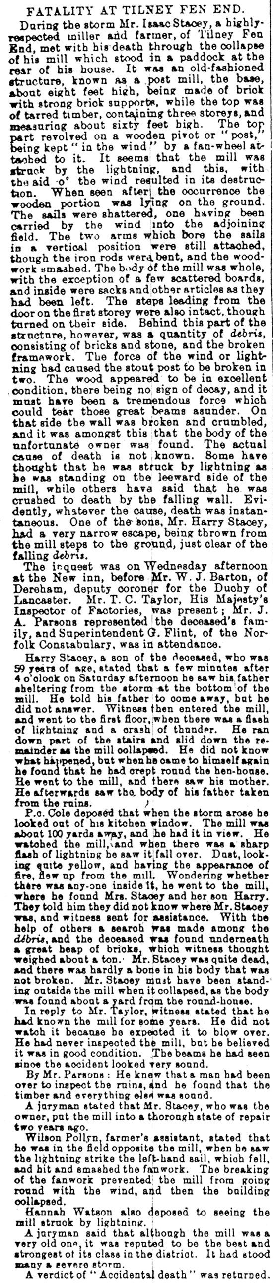 Lynn Advertiser - 28th February 1908
