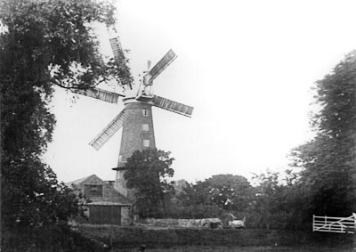Mill from Hill House garden c.1935