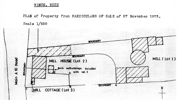 Plan of Lots for Sale 27th November 1973