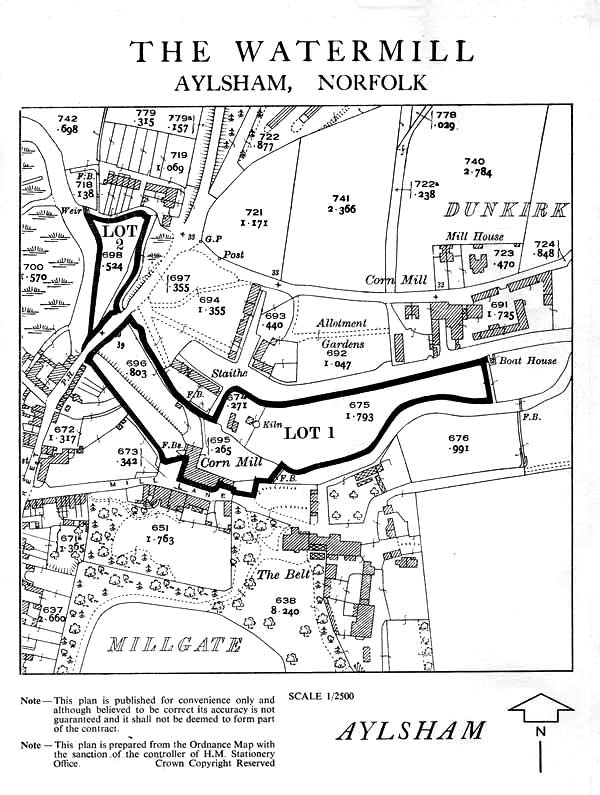 Map from the 1969 sale catalogue