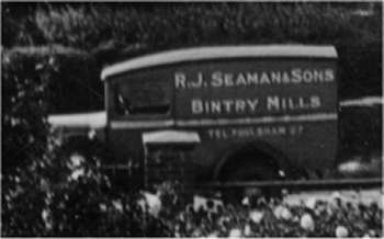 R.J. Seaman's delivery van in the 1950s