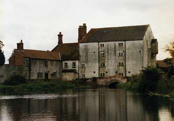 The blackened mill complete with plastic bridge in 1966