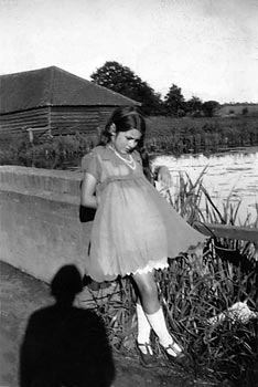 Violet Brakenbury near the mill dam c.1932
