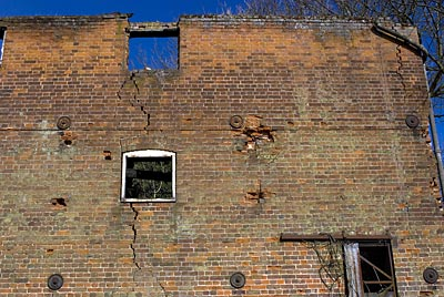Brickwork apparently bellieved to be safe by North Norfolk DC in January 2008