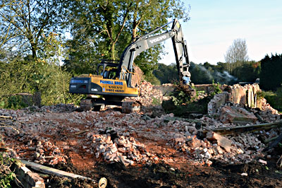 Demolition almost complete Tuesday 30th October 2012