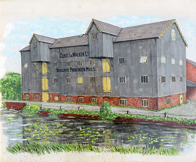 Painting of mill c.1926
