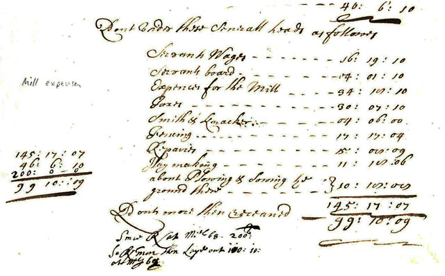 Mill repairs from manorial records May to Michaelmas (29th Sept) 1667