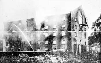 The burnt out shell 7th July 1924
