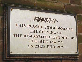 RHM plaque 5th January 1984