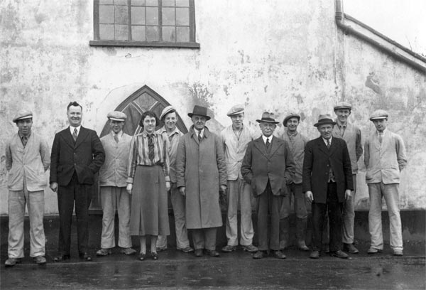 Mill staff in 1935