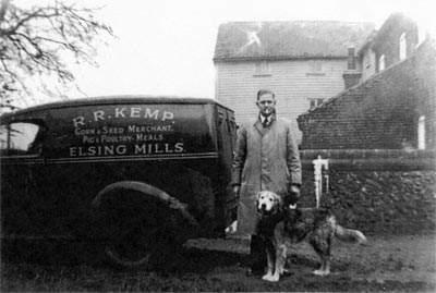 Ronald (Roly) Reginald Kemp outside mill 1948