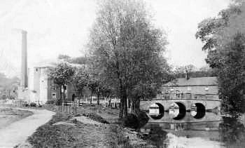 Smoking chimney and the bridge c.1908