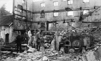 Internal remains including the steam boiler 17th October 1914