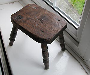 Stool made by mill owner c.1929