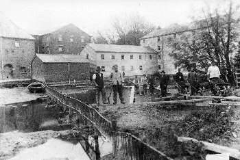 Dredging at the rear of the mill in 1896