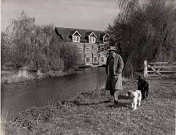 Derek Neville and dogs in the late 1960s