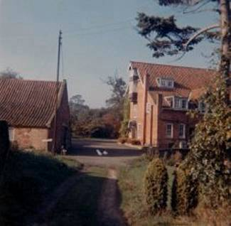 Looking west from the Mill cottage in the early 1970s