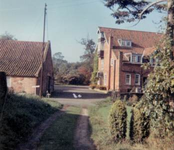 Looking west from the Mill cottage early ''70s