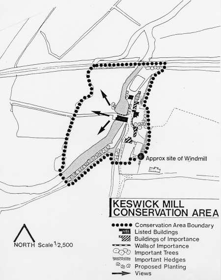 South Norfolk's Keswick Mill Conservation Area Plan July 1975
