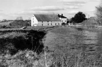 Mill dam c.1950 looking south west