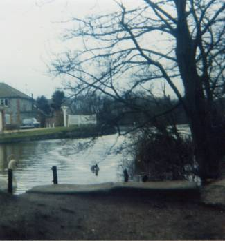 Mill dam March 1977