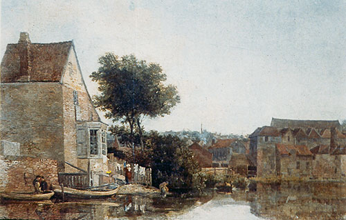 Back of New Mills by John Crome