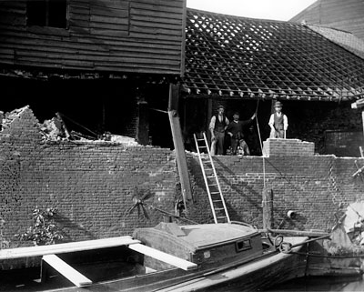 Mill being dismantled in 1897