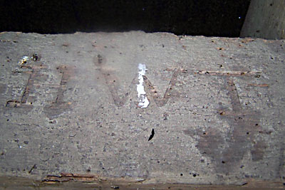 nscriptions on beams at top of the mill photographed October 2011