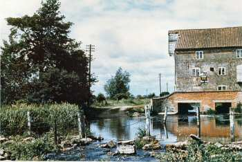 Mill and fenced ford c.1958